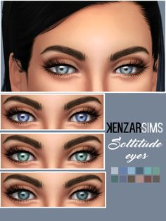 kenzar-sims:   Kenzar Soltitude Eyes * You can find them in -FacePaint - *Comes in 12 colors. *Tag me if you use them I hope you like it ! ^-^ Download Eyes(Mediafire)   Download Eyes(Simfileshare)   Find my other makeup and cc >Here<