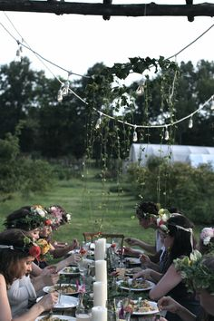 Midsummer or Midsomer flower crowns are so FUN to wear!!  Have a solstice feast for dinner