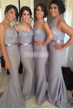 High-end Sequins Mermaid Sash Prom Dress