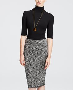 The Midi Sweater Skirt in black is a great work or interview staple.