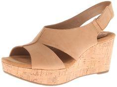 Amazon.com | Clarks Women's Caslynn Lizzie Wedge Sandal | Platforms & Wedges