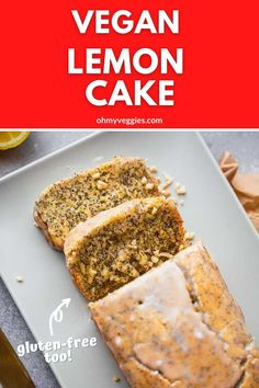 This vegan lemon cake is a plant-based makeover of a traditional favorite. It is fluffy and moist, bursting with zesty lemon flavor, and loaded with gorgeous poppy seeds. This is a dessert that's guaranteed to impress! Vegan Lemon Cake, Vegan Cake, Oat Flour Recipes, Baking School, Poppy Seed Cake, Baking Basics, Vegan Cream Cheese, Vegan Cookbook, Lemon Desserts