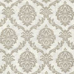 """Buckingham Tennyson Shimmer 33' x 20.5"""" Damask 3D Embossed Wallpaper"""