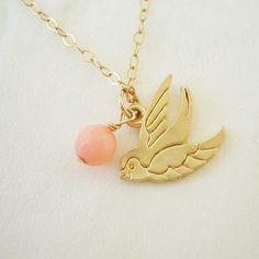 necklace gold sparrow, gold filled / Kette Goldspatz, 14 Kt. Gold Filled