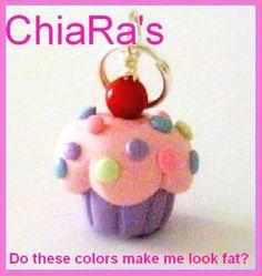 Pink Pastels Cupcake Polymer Clay Charm. $3.00, via Etsy.