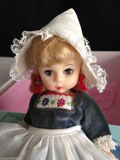 "VINTAGE 1970'S Madame Alexander Doll ""NETHERLANDS"" GIRL  8"" LITTLE WOMAN SERIES #Dolls"