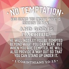 "1 Corinthians 10:15 • Remember this verse through out First Denton's ""Temptation"" sermon series."