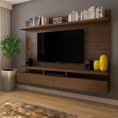 Painel para TV 60 Polegadas Zeus Castanho 220 cm