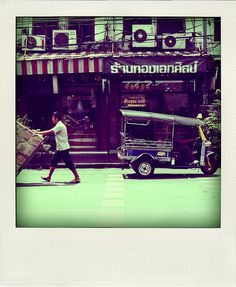 tuk-tuk in bangkok, thailand. I cannot wait to ride in one of these again!