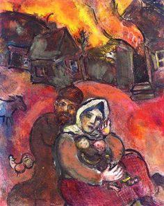 Marc Chagall - La famille ukrainienne, c. 1940-43. Gouache, pastel and pencil on paper, 24¼ x 19 3/8 in. (61.6 x 49.3 cm.).