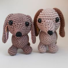 Amigurumi Sausage Dog Crochet Pattern US Version by EdenReborn
