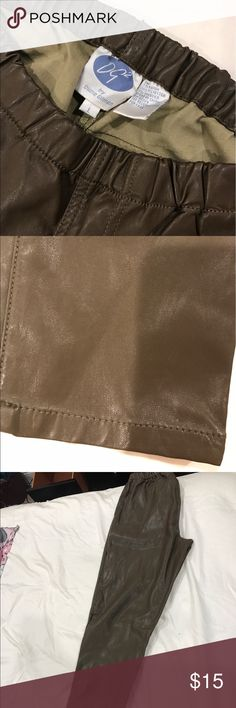Diane Gilman faux leather legging . Brown. Looks like real laeather and feels like it. . diane gilman Pants