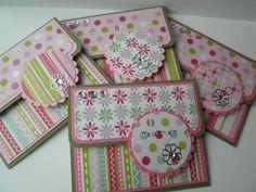Cadeau kaart / geld envelop roze en groen door DutchColourful