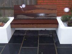 Witham - Bespoke floating bench in hardwood.