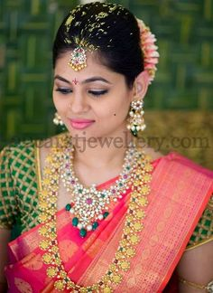 Bride in Ramleela Haram and Pachi Set
