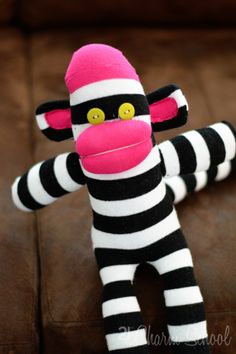 The {studio} blog by April Rosenthal | Monkeying around (or How to Make a Sock Monkey) | http://www.aprilrosenthal.com