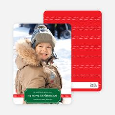 Christmas Label Holiday Photo Cards by Paper Culture