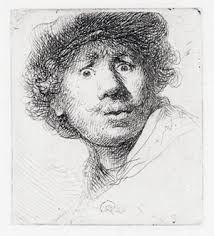 Self-Portrait With Beret, By Rembrandt Van Rijn, Dutch Print, Etching On Paper. Rembrandt Was 24 When He Created This Etching Poster Print Portrait Drawing, Fine Art, Old Master, Dutch Artists, Art, Woodcut, Art History, Rembrandt Self Portrait, Art World