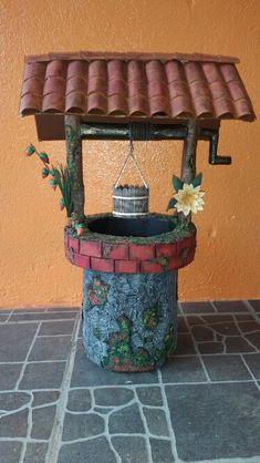 Pozo decorativo con materiales reciclados ♻♻♻♻♻