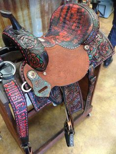 A perfect Valentine's Day saddle {Double J Saddlery}