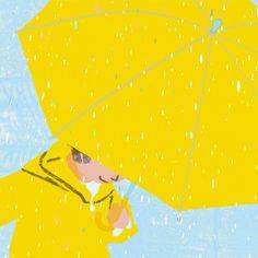 Chuva, ilustração de Tatsuro Kiuchi.