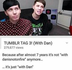 on tumblr as i am viewing this - guess what? the picture i litteratly clicked on 10 seconds ago was about dan and phil. haha :)