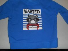 Joe boxer 12 month blue  long sleeve shirt  wanted for sneaky mischief