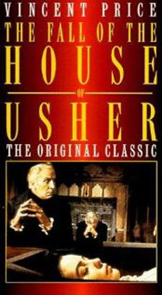 Fall of the House of Usher, 1960.  Based on the short story by Edgar Allan Poe.  Starring Vincent Price as Roderick Usher.  Price's voice really gives me the creeps.  This movie is old school but that atmosphere is perfect.