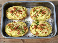 Gefüllte Backkartoffeln - Chili und Ciabatta