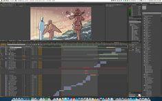 大成建設CM「スリランカ高速道路」篇について-ビデオコンテ作成画面