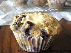 Blaubeere-Käsekuchen-Muffin