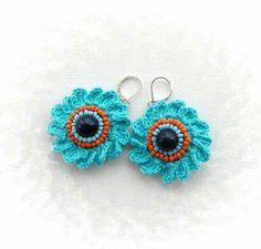 Aros flor crochet