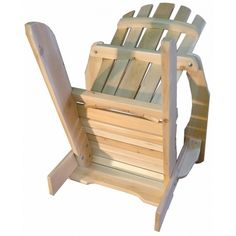 fauteuil adirondack sans repose pieds fauteuil fixe bois. Black Bedroom Furniture Sets. Home Design Ideas