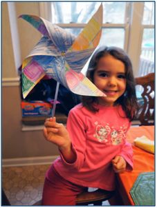 Eco-friendly craft- make your own pinwheel and talk about wind energy