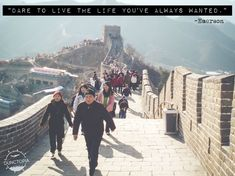 Walking the Great Wall while traveling in China Facing Fear, Ha Long Bay, Travel Workout, Ways Of Seeing, New Perspective, Travel Quotes, Traveling By Yourself, Egypt, Walking