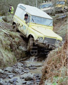 Land Rover off road in Wales.