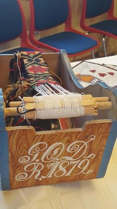 Band from Gol Husflidslag Sons Of Norway, Tablet Weaving, Loom, Ideas, Inkle Weaving, Loom Weaving, Weaving