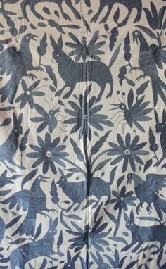Otomi textiles - charcoal or navy