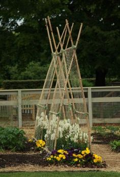 Veggie trellising ideas from Longwood Gardens