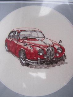 See Sally Sew-Patterns For Less - Jaguar Mk II 1966 Automobile Car Cross Stitch Heritage Classics Embroidery Design Chart, $9.99 (http://stores.seesallysew.com/jaguar-mk-ii-1966-automobile-car-cross-stitch-heritage-classics-embroidery-design-chart/)