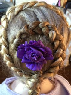 Six strand braid with ribbon and French fishtail combination     Braids  Hairdos  Braid Hairstyles  French Braids  Twists  Hair Weaves  Knit  Stitches  Cornrows