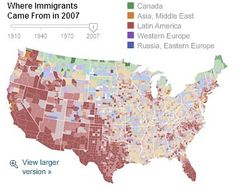 The Geography Of American Religion - Religious diffusion maps us