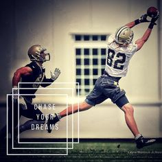 Day 2 - @saints training camp. Always learning. Always growing. Always trying to get better! #nfl #training #football #field #catch #helmet #gloves #longhair #flow #cleats #nike #jersey #saints #whodatnation #whodat #black #gold #dreams #learning #growing #team #teamwork #neworleans #fitness #summer #heat