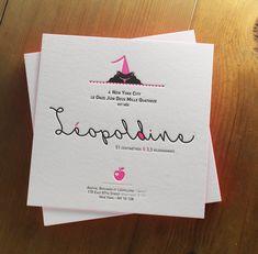 » faire-part naissance letterpress House of Press