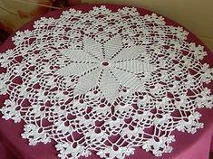 Como tejer mantel a crochet paso a paso parte 1/6 - YouTube