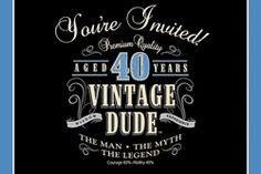 Vintage 40th Birthday Party Invitations