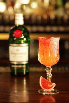 Palm Beach Special [Tanqueray Gin, Pink Grapefruit, Cocchi Sweet Vermouth, Floral Crusta] | Bar Nightjar