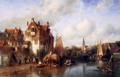 Summer Scene in a Dutch City by Charles Leickert.  All Life Converges to Some…