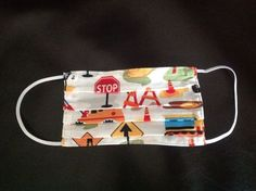 Hand-sewn Cotton Surgical Mask - good DIY project - make one for every family member to prevent spread of illness or for kids to play doctor. :)