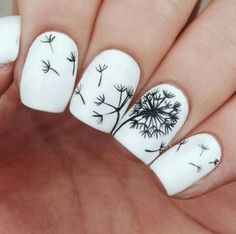 Dandelion, a wonderful nail idea.